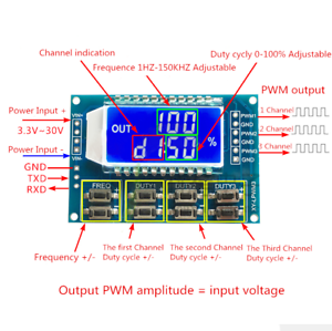 Signal Generator Adjustable PWM Pulse Frequency Duty Cycle Square Wave Module