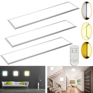 led panel 120x30 120x60 60x30 30x30cm deckenleuchte pendelleucte einbau strahler ebay. Black Bedroom Furniture Sets. Home Design Ideas