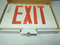Case Of 6 Led Plastic Exit Sign 120/277 White Red Letters 1 Or 2 Sided Dual Cir.