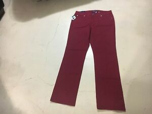 Details about Bandolino Women s NWT Red Samantha Straight Leg Jeans. Size 8 FREE  SHIPPING!!! 5b289087c