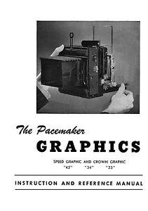 graflex speed graphic crown graphic camera instruction manual ebay rh ebay com Graflex Crown Graphic Manual Graphic Using a Manual