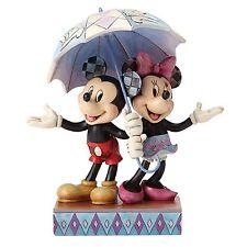 Disney Traditions Rainy Day Romance Ornament Mickey & Minnie Resin Figurine Gift