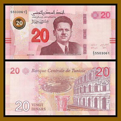 TUNISIA 20 DINARS 2017 2018  P NEW COLOR DESIGN UNC