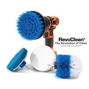 Revoclean-Ultimate-4-PEZZI-Scrub-spazzola-trapano-multiuso-kit-di-pulizia-profonda