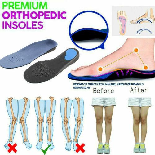 Premium Orthopedic Insoles ! Healthy Men Women Arch Shoe Pad Flat Foot Cushion