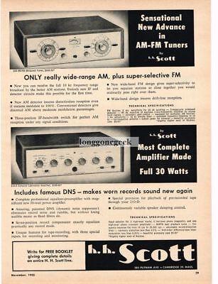 Collectibles Competent 1955 H.h Scott Hi-fi 330 Am/fm Tuner 210-d Amplifier Vtg Print Ad Shrink-Proof Merchandise & Memorabilia