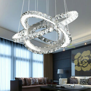 ... Contemporary-3-Rings-Crystal-Pendant-Light-Chandelier-Ceiling-