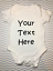 Personnalisé Votre Texte Ici Funny Baby Grow Vest Body Baby Shower cadeau
