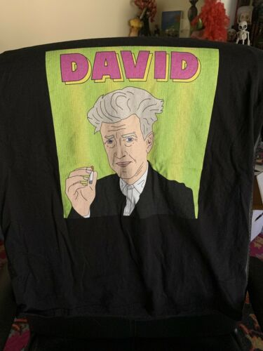 David Lynch Cartoon Shirt Size Large