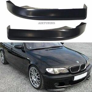 BMW-E46-MTech-CSL-Front-Bumper-Apron-Addons-Corner-Splitter-Lip-Valance-Spoiler