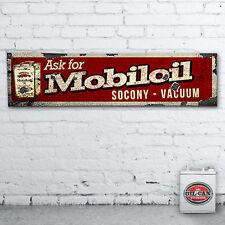 1200 x 305mm MOBIL Socony vuoto Banner Heavy Duty, garage, mancave
