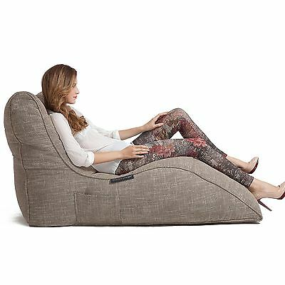 Avatar Lounger Bean Bag - Eco Weave beige interior Beanbag for home cinema