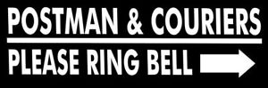 POSTMAN-amp-COURIERS-PLEASE-RING-BELL-Metal-SIGN-ebay-amazon-home-delivery-notice