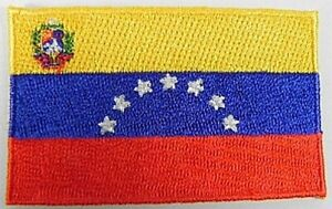 Venezuela-Aufnaeher-gestickt-Flagge-Fahne-Patch-Aufbuegler-6-5cm-neu