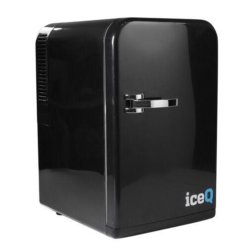 iceQ 15 Litre Deluxe Portable Mini Fridge, Mini Cooler In Black