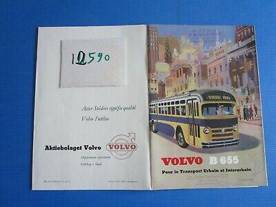 Ambicioso N°12590 / Autocar-autobus Volvo B 655 Catalogue Texte Français 8.1953