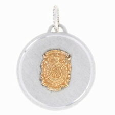 Alpha Chi Omega Sterling Silver Crest Charm With Chain for sale