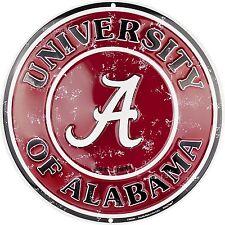 "University of Alabama Crimson Tide Embossed 12"" Circle Sign"