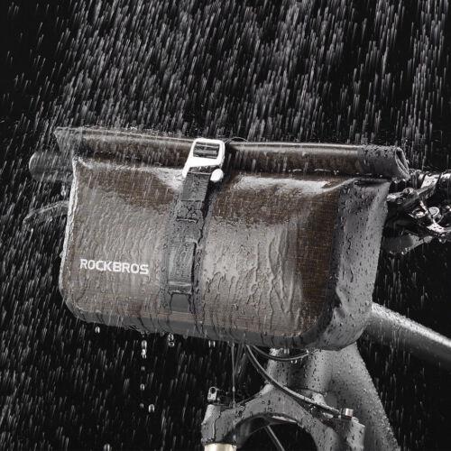 RockBros Bicycle Front Handlebar Bag Waterproof Cycling Bag 4-5L Black Gold