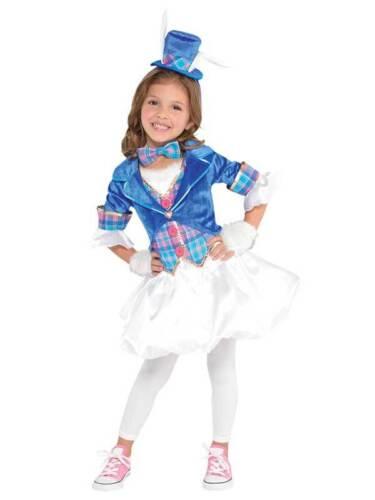 Girls White Rabbit Costume Child Mad Hatter Alice Fancy Dress Costume Book Week