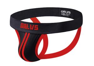 Mens Large Red /& Black Stripe Soft Cotton Sports Jock Strap Underwear Gay UK