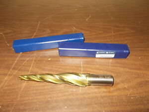 """5 Degree Per Side 1//16/"""" Tip 3//4/"""" LOC 3 Flute HSS Tapered End Mill Conical USA"""