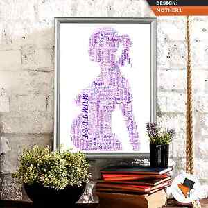 Image Is Loading PERSONALISED NEW MUM PREGNANT WORD ART FOR BABY