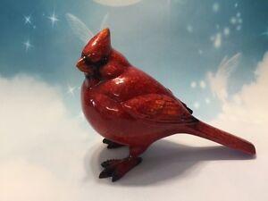 Cardinal Ceramic Bird Glossy Figurine Bird Home Decor Pan