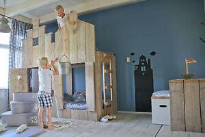 Etagenbett Aus Paletten : Kinderbett bauholz etagenbett ritterburg sofort verfÜgbar ebay