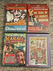 6-NEW-Something-Weird-Horror-Exploitation-Films-4-DVD-Lot-Apes-Karate-MORE
