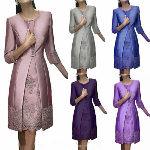 Elegant Sheath Mother Of The Bride Dress Suit Gowns With Jacket Formal Wear Plus