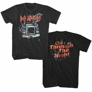 Def-Leppard-On-Through-the-Night-Men-039-s-T-Shirt-Rock-Band-Album-Cover-Tour-Merch