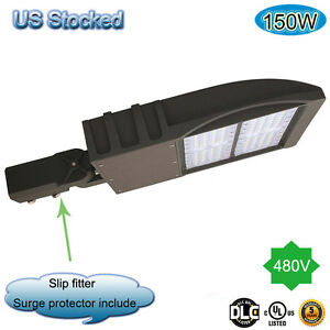 150w 347v 480v Led Shoebox Parking Lot Light Slip Fitter