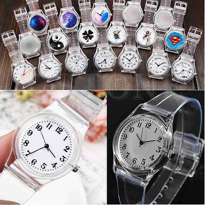 Durable Transparent Plastic PVC Watch Quartz Watches Useful For Unisex 19 Style
