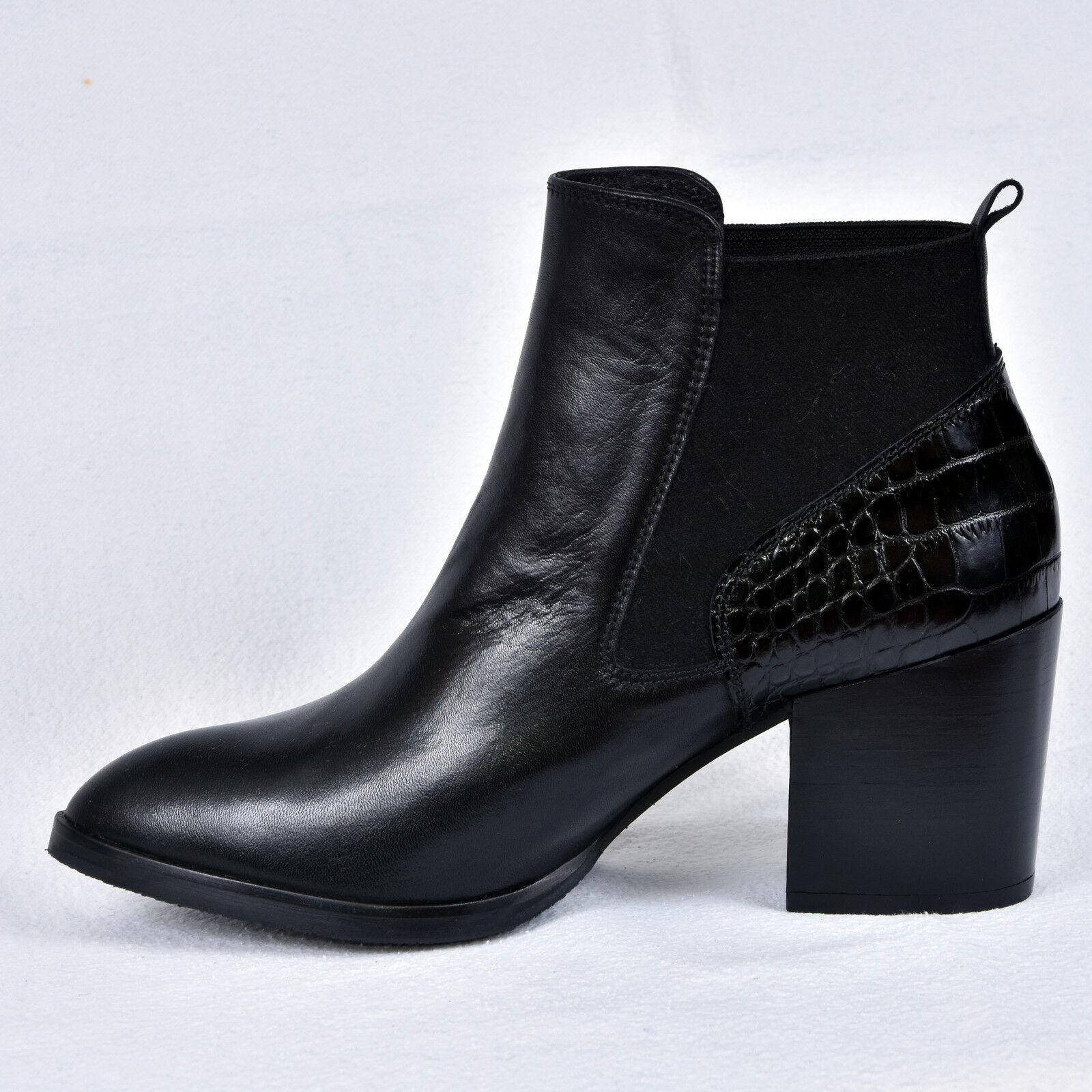 Gadea señora señora señora botines botas de cuero negro elegante nuevo 37 38 39 40 58eed1