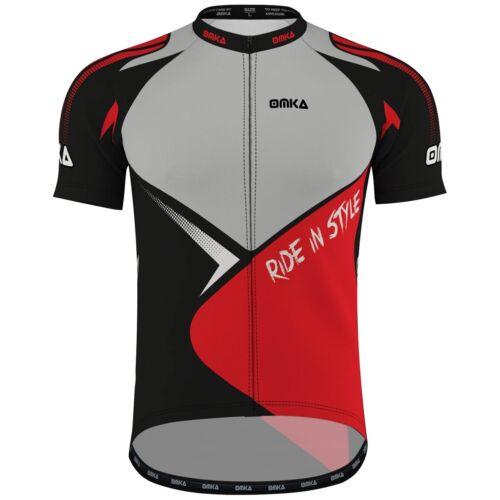 OMKA Herren Radtrikot Fahrrad Rad Racing Performance Shirt mit Sublimationsdruck