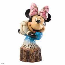 Disney Jim Shore Minnie Mouse Carved by Heart Figurine Ornament 10.5cm 4033289