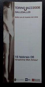 JAZZ / TORINO 2006 / DALLE 3 ALLE 3 / 10 BROCHURE PUBBLICITARIA PATINATA / LIVE