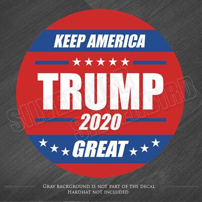 2 TRUMP 2020 Hard Hat Stickers Helmet Decals Vote USA Election America President