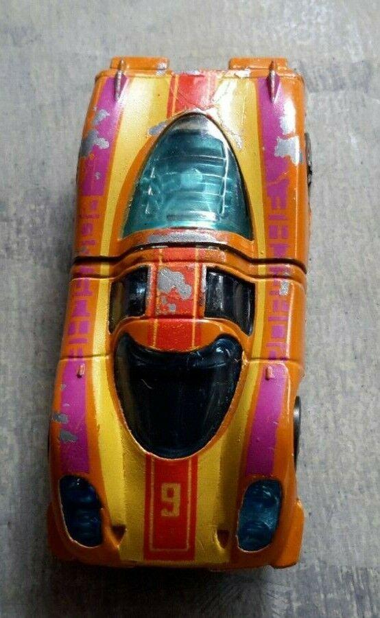 Vintage Hot Wheel Red Line Porsche 917 orange Yellow