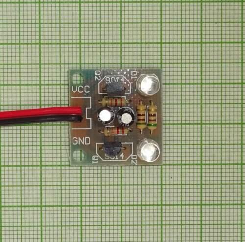 LED Wechselblinker Fertigbaustein blinkend Modul mit 2 weiß Leds E930