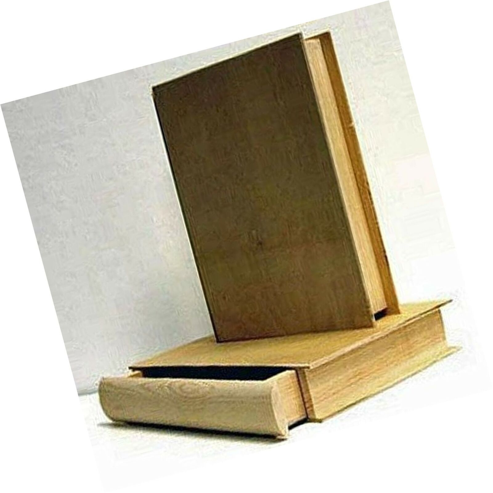 NicoleCrafts 1 X Unfinished Pine Wood 8 Book BOX with Pull Out Drawer,Tan