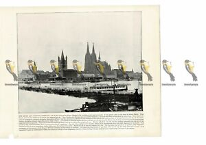 Cologne-The-Rhine-Germany-Book-Illustration-Print-1899