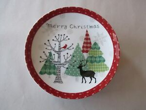 222-Fifth-Merry-Trees-Christmas-8-Appetizer-Party-Plates-6-25-034-NWT