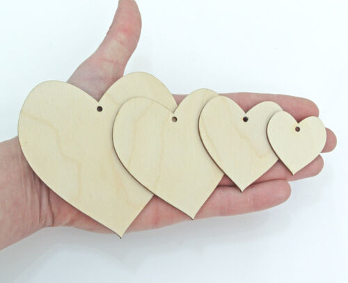Wooden Hearts Shape Craft Hanging Tag Decoration Gift Love Card Making