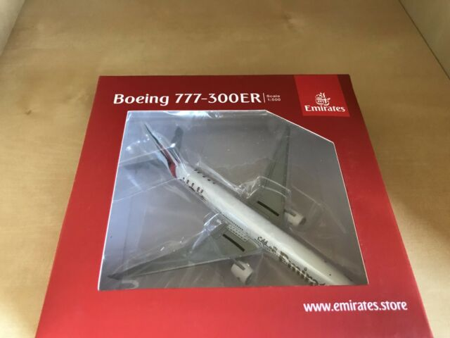 Emirates airlines boeing 777-300er 1:200 Herpa SNAP-fit 610544 modelo b777