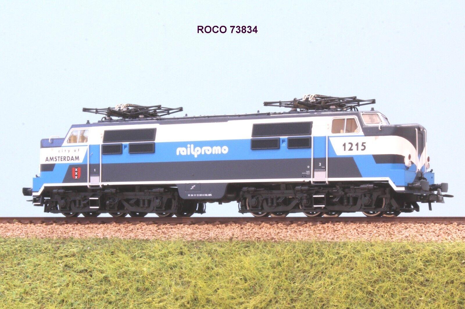 orden ahora disfrutar de gran descuento ROCO 73834 73834 73834 loco elettrica CoCo 1215  blu bianco RAILPROMO City of Amsterdam  comprar nuevo barato