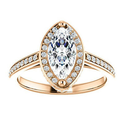 Other Fine Rings Self-Conscious 2.00 Carat Diamond Solitaire Hallmarked 14k Rose Gold Wedding Rings Size M N J I New Varieties Are Introduced One After Another