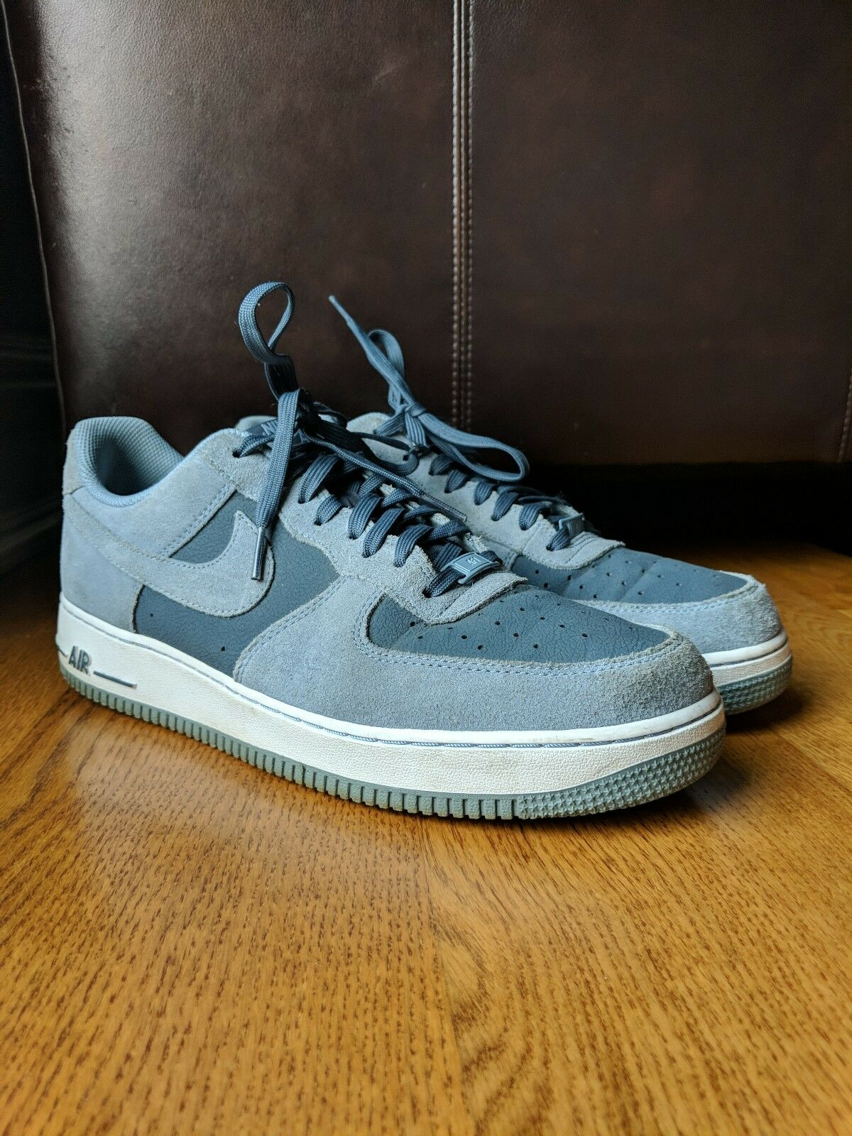 NIKE Mens Air Force One 1 Low 07 Dark Magnet Grey White shoes Sneaker SIZE 11.5