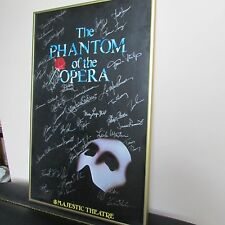 THE PHANTOM OF THE OPERA SIGNED POSTER MAJESTIC THEATRE BROADWAY FRAMED CLASSIC